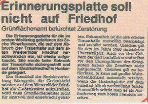 Bericht in der Mengeder Zeitung